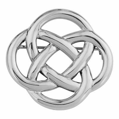 Celtic Silver Plated Brooch 9184