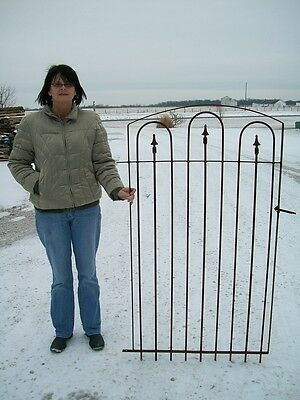 "Standard Wrought Iron Gate works w/ 5' Tall Fence - Installed 65"" Tall"