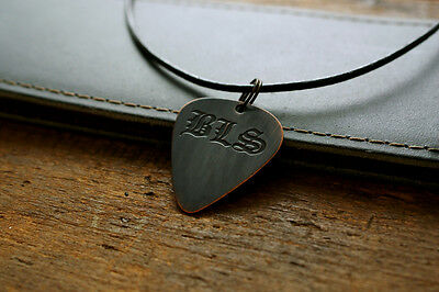 Hand Made Etched Copper Guitar Pick Necklace - Black Label Society - Zakk Wylde