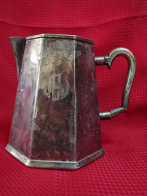 7 INCH  SILVER PLATE PITCHER BY SOPPIL MADE IN BRAZIL