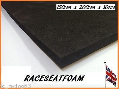 Trackday Race Seat Foam (Bum/Back Stop Pad), 10mm Thick, Self Adhesive
