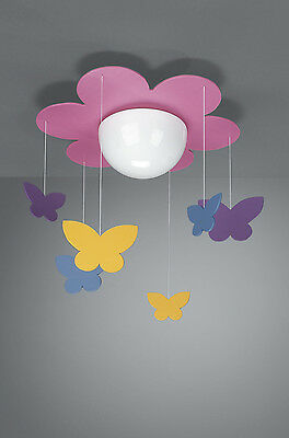 Childrens Ceiling Light Kico Meria Butterfly Novelty Ceiling Light - 40096/28/10