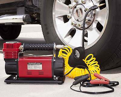 SuperFlow 12V HD Air Compressor Tire Inflator Ideal Trucks, SUVs, RVs & Tractors