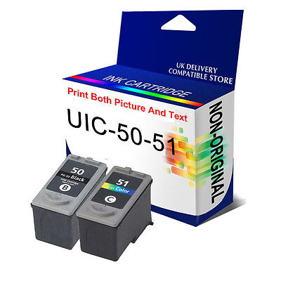 2 Ink Cartridge For Canon PG50 & CL51 Pixma MP180 MP450 MP460 MX300 MX310