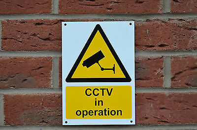 CCTV In Operation A5 Sticker, Plastic Or Metal Safety Security Camera Sign