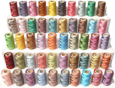 50 Variegated Rayon Machine Embroidery Thread Spools *Best Deal