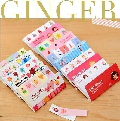 Cute Korean Sticker Post It Bookmark Point Memo Flags Sticky Notes 175 Pages
