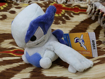 "Lugia --- Pokemon Plush Character Anime Doll Toy 6"" Soft New/with tag Free Ship"