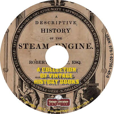 History of the Steam Engine {Vintage Catalogs and Book Collection} on DVD