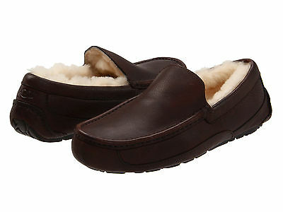 Men UGG Australia Ascot 5379 China Tea Leather 100% Authentic Brand New In Box