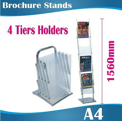 A4 Portable Brochure Stand Brochure Holder Catalogue Flyer Acrylic Holders