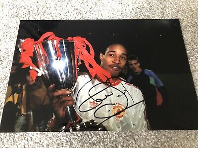 Paul Ince Manchester United & England Hand Signed 12x8 Photo