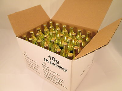 30 Food grade 16 gram CO2  NON threaded cartridge C02 soda fizz gizz 16g NT unth