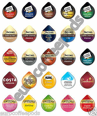 Tassimo Coffee 8 x T DISCS - Pods - Capsules - 28 Flavours To Choose From
