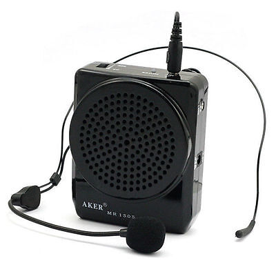 12W Aker MR1505 Waistband Portable Loud Voice Booster Amplifier Speaker for MP3