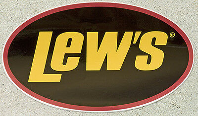 """Lew's Lews FOUR Decals (4) 5"""" X 3"""" NEW"""