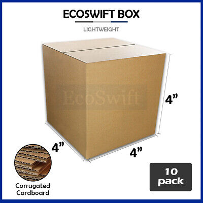 10 4x4x4 Cardboard Packing Mailing Moving Shipping Boxes Corrugated Box Cartons