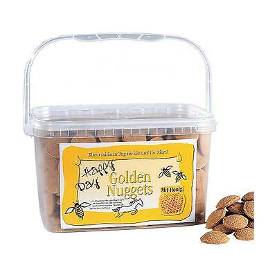 Happy Day - Golden Nuggets - 15 Kg (2,92€/kg) Leckerlies Snack Pferdefutter