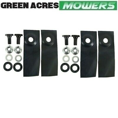 "2 X Blade And Bolt Kits For 18"" Masport & Morrison Mowers   529594 ,"