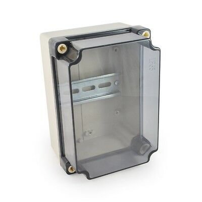 Watertight Enclosure Clear Cover Electric DIN Rail kWh Meter Conduit IP65 CE #19