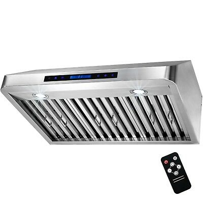 "30"" Stainless Steel Under Cabinet Range Hood Touch Panel Kitchen Cooking Fan"