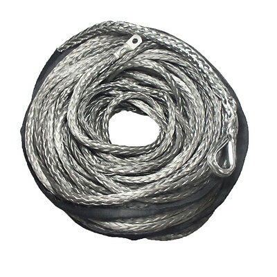 Grey DYNEEMA 10mm x 40m SK-75 SYNTHETIC WINCH ROPE CABLE 4WD Recovery 4x4 ATV