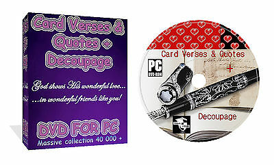 Over 40 000 Card Verses And Quotes + Decoupage Get Everything For Card Making