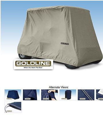 Goldline Premium 4 Person Passenger Golf Car Cart Storage Cover, Khaki/Tan