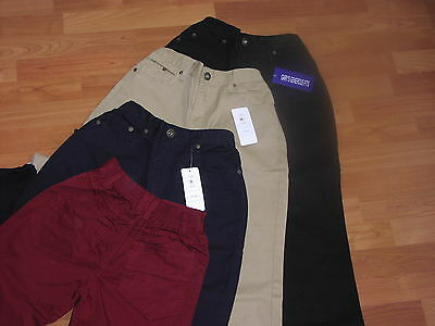 "Sturdy Fitting Boys Chino Trousers - From Age 9 Upto 42"" Waist"