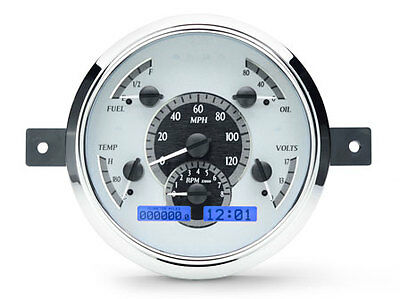 1949-50 Ford Car VHX Instrument (Silver Alloy Style Face, Blue Display)