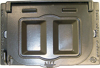BWF FCL-MUSE-A1 Outdoor Outlet Cover for Horizontal Duplex Receptacle and GFCI