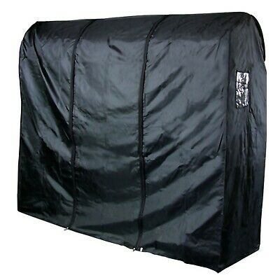 Black Garment Rail Cover Waterproof Nylon Clothes Cover Storage 6ft Hangerworld