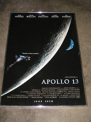 APOLLO 13 Original Double Sided Glass Framed Movie Poster