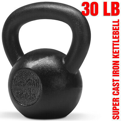 Yes4All 30 lb Kettlebell Weights for Body Workout - Cast Iron Kettlebells