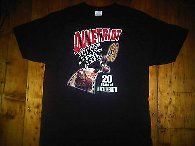 Quiet Riot NEW XL 20 Year Anniversary of Metal Health Shirt 2003 1983