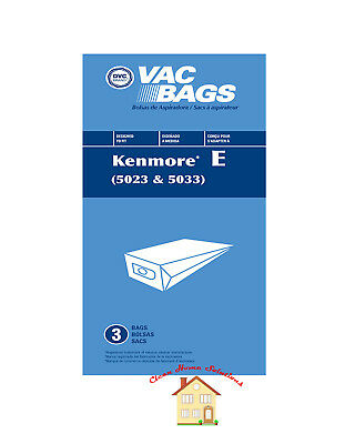 Kenmore 5023 5033 20-5033 Type E Vacuum Cleaner Bags - Sears Canister Style Vac