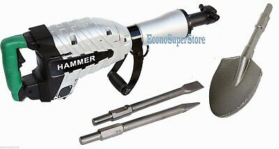 Hd 1500W Demolition Breaker Jack Hammer Concrete + Spade Scoope Shovel Ug50