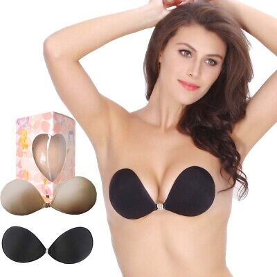 Push Up Self Adhesive Strapless Backless Cotton Silicone Stick On Nu Bra A B C D