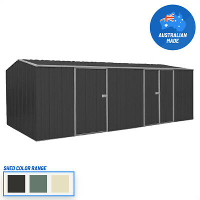 Cheap Shed Workshop 5.9m x 2.8m Dbl & Sgl Dr Colour with 2 FREE Skylight-ON SALE