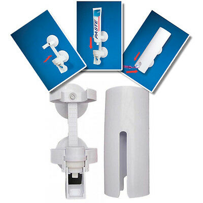 Touch N Brush TOOTHPASTE DISPENSER..... Hands Free Bathroom Holder Suction Cups