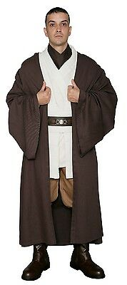 Star Wars Obi Wan Kenobi Costume +Dark Brown Jedi Robe Film Set Quality from USA
