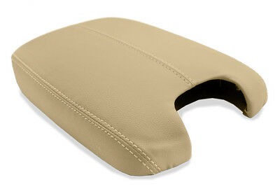 Fits 08-12 Honda Accord Tan (Ivory) Leather Console Lid Armrest Cover + Padding