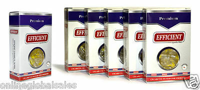 6 Packs EFFICIENT Cigarette Filters (180 Filters) Block & Filter Out Tar & Nic