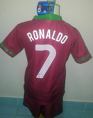 Kit Kid Soccer Children  Adult Football Ronaldo Portugal 5 Sizes 6To 16Years Old