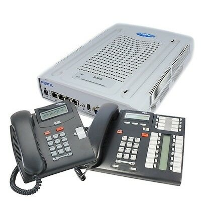 Nortel BCM50 Phone System 8 ISDN2 + 4 Phones Voicemail GST & Delivery Inc
