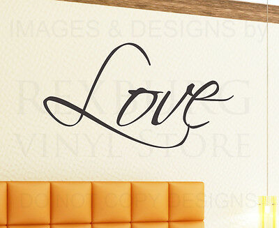 Wall Decal Art Sticker Quote Vinyl Large Graphic Love Wedding Marriage Family W3