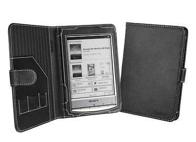Cover-Up Sony Reader PRS-T1 / PRS-T2 (Book Style) Black Faux Leather Cover Case