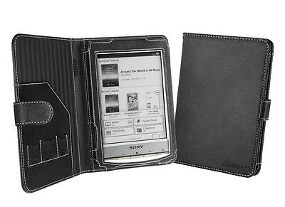 Cover-Up Sony Reader PRS-T1 / PRS-T2 (Book Style) Black Nappa Leather Case