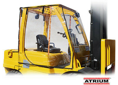 Atrium Full Forklift Cab Enclosure Cover Clear Fits 6000 to 12000 LBS.  Large