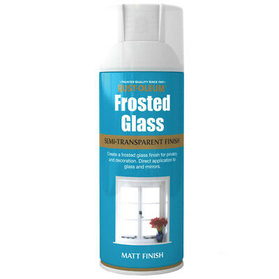 Rust-Oleum Frosted Window Glass Effect Spray Paint - 400ml Frosting Pivacy